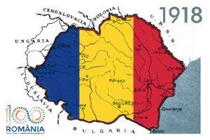 Harta României după Marea Unire de la 1918